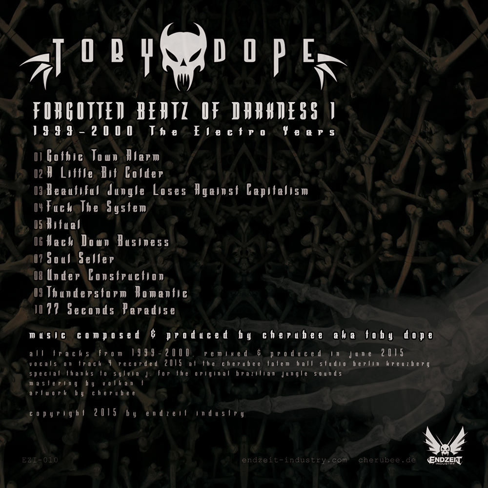 Toby Dope - Forgotten Beatz Of Darkness 1 (1999-2000 The Electro Years) (2015/Back/digital)